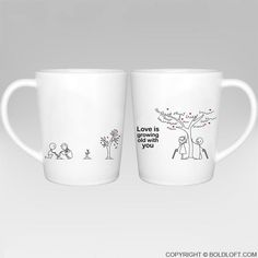 Grow Old with You™ Couple Coffee Mugs