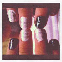 Newspaper nails (: Cute & Easy [: