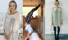 Fearne Cotton reveals super-svelte frame FOUR months after birth Fearne Cotton, After Birth, Rock Chic, Second Child, Cotton Style, Yoga Poses, Cover Up, Celebrities, Frame