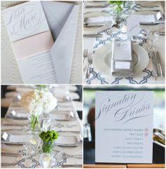 Modern geometric wedding decor