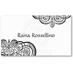 Monogram Wedding Planner Business Card