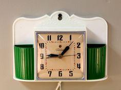 Vintage Green Telechron Kitchen Clock (SOLD)