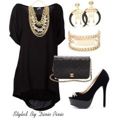 Little black dress. Fashion for women over 40.