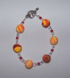 Summer Sunrise Beaded Bracelet by FiberandBeadBoutique on Etsy, $20.00