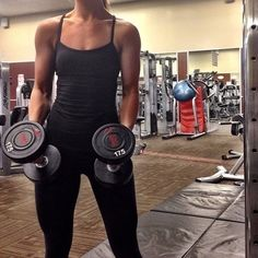 Weight lifting muscle tone health fitness gym inspiration motivation female body building arms summer