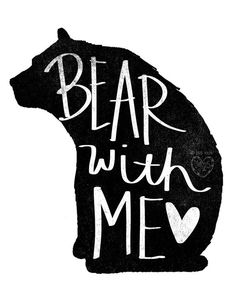 Bear With Me Beautifully textured cotton canvas art by vol25 Watermark not included on shipped product.