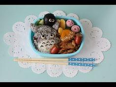Totoro Bento lunch box トトロ弁当 まっくろくろすけもいるよ! - YouTube