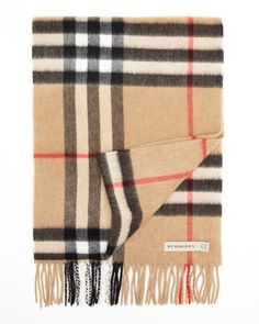 Burberry London Giant Icon Check Cashmere Scarf | Bloomingdale's