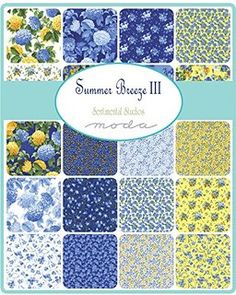 Moda Summer Breeze III Charm Pack, 42 5-inch Cotton Fabric Squares