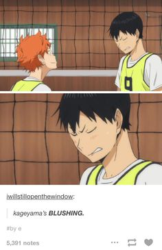 Haikyuu Kageyama - OMG! Attention, people! Kageyama's blushing! I repeat: Kageyama Tobio is blushing! *0*