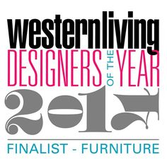 """""""So excited and honoured to be a Western Living Designer of the Year finalist in furniture design! #doty2014"""""""