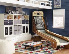 I love the Pottery Barn Kids Cameron Game Room on potterybarnkids.com