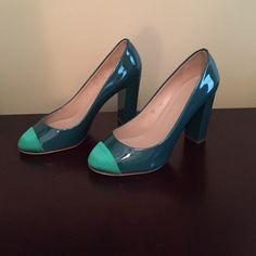 "Selling this ""Jcrew Etta Cap Toe Patent Pumps"" in my Poshmark closet! My username is: jacq5. #shopmycloset #poshmark #fashion #shopping #style #forsale #J. Crew #Shoes"