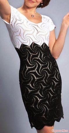 colour block crochet dress