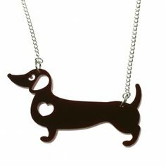 Cute Sausage Dog Necklace | Daschund Necklace | Animal Jewellery punky pins