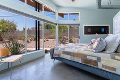 Wall color - Junipero Ave II - modern - bedroom - other metro - House & Homes Palm Springs Home Staging