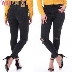 😍💖🛒Fii inspirata si alege piese cool pentru tinuta ta de primavara: Black Jeans, Skinny, Casual, Pants, Fashion, Moda, Trousers, Skinny Fit, Fashion Styles