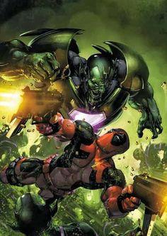 Deadpool vs Skrulls