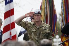 That time he saluted the British and American flags. | 21 Most Swoon-Worthy Moments Of Prince Harry's Visit To America