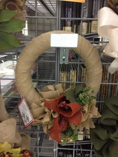 Talented Michaels Designers  Burlap wreath. #michaels #brentwoodmissouri