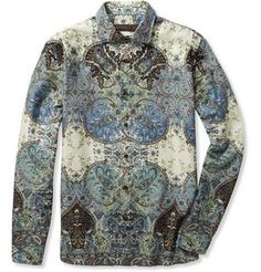 Celebrities who wear, use, or own Etro Paisley Print Cotton Shirt. Also discover the movies, TV shows, and events associated with Etro Paisley Print Cotton Shirt. Cool Shirts For Men, Casual Shirts For Men, Men Casual, Printed Cotton, Printed Shirts, Mens Fashion, Fashion Outfits, Paisley Print, Long Sleeve Shirts