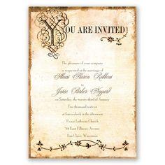 Antique Book Invitation
