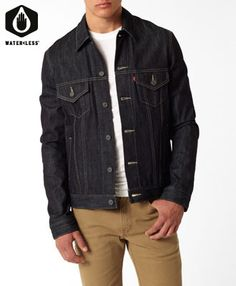 Levi's Standard Fit Trucker Jacket - Rigid. Looking for something like this in black.