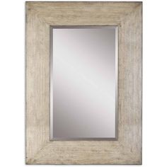 Langston Coastal Beach Distressed Wash Grey Wood Wall Mirror ($588) ❤ liked on Polyvore featuring home, home decor, mirrors, gray mirror, rectangular beveled mirror, wooden mirror, horizontal mirror and beveled mirror