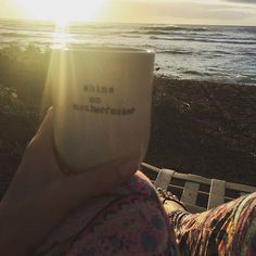 Happy #Monday folks! @tanib74 loves her #swearmug so much she took it to HAWAII with her! Officially jealous of a mug  thanks for sharing with us Tania we love seeing where our creations end up! #hunterandthistleceramics
