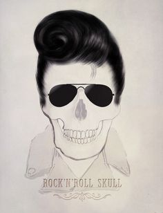 RockNRoll Skull  by Agnès Lépinay