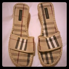 Burberry Wedge Sandals Size 39 Very good condition genuine Burberry sandals , barely used. Burberry Shoes Sandals