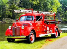 1939 Ford Bickle 2-ton pickup pumper.Vintage Fire Company, Commerce Township. Fire apparatus Muster, Riverside Park, Ypsilanti, Michigan August 26, 2006