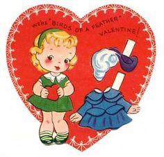 Valentine Paper DollCards