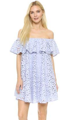 Cynthia Rowley Lace Off Shoulder Dress | SHOPBOP