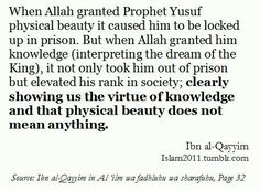 "Prophet Yusuf (pbuh). IslamWhen we transfer our hopes from our limited selves to Allah The Most High, even the most difficult of tasks can become very possible and very easy (Islamic History testifies to this such as the Battle of Badr!) Whenever a negative thought comes to mind, immediately tell it – ""It's okay, I can do it with the help of Allah"". And suddenly, you'll start feeling more confident and optimistic! Click to learn 'How to Maintain Your Motivation & Strengthen"