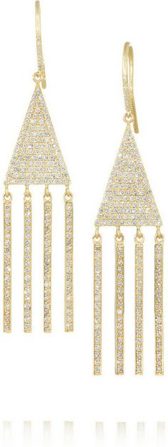 Jennifer Meyer 18-karat gold diamond triangle earrings on shopstyle.com