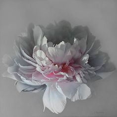 Artists Tatyana and Vadim Klevenskiy: paintings, fine art, biography, and partner galleries. Peony Painting, Watercolor Paintings, Abstract Flowers, Watercolor Flowers, Arte Floral, Art For Art Sake, Pink Peonies, Botanical Art, Flower Art