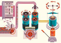 Simple Machines by Tinybop & James Gilleard | Inspiration Grid | Design Inspiration