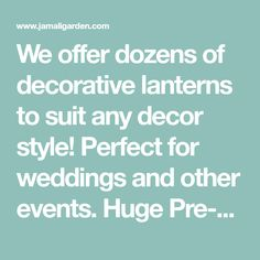 We offer dozens of decorative lanterns to suit any decor style! Perfect for weddings and other events. Huge Pre-Xmas sale happening now - shop and save! Hanging Lantern Lights, Lanterns Decor, Decorative Lanterns, Wedding Lanterns, Decor Styles, Diy And Crafts, Xmas, Wood, Navidad