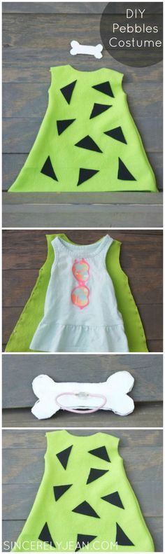 DIY Pebbles Costume Pinterest - perfect Halloween costume for young girl or baby! | www.sincerelyjean.com