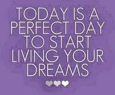 Today is a perfect day to start living your dreams. #teamdriventodazzle #jacquelinehurley