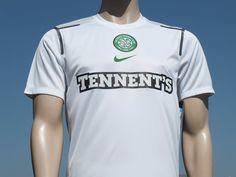 Celtic F.C. Training Shirt 2010-2011 White Grey Nike Short Sleeved Player Issue