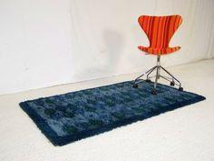 Vintage retro floor rug carpet 1970s danish RYA design shag pile panton era 60s