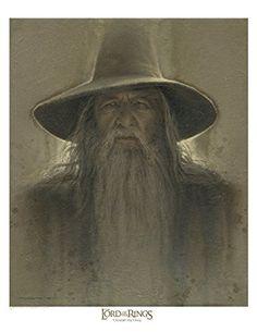 Gandalf - brown antique 12x16 @ niftywarehouse.com