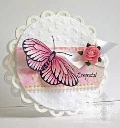 Wedding Butterfly F4A108 by sweetnsassystamps - Cards and Paper Crafts at Splitcoaststampers