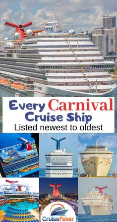 List of every Carnival cruise ship in order of newest to oldest.  Check out every ship with Carnival Cruise Line.#carnivalcruiseships #carnival #carnivalcruise #carnivalships #cruisefever