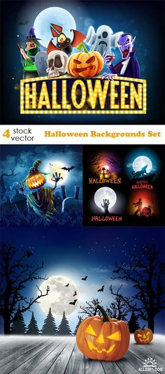 Vectors - Halloween Backgrounds Set