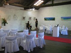 An inside view of the Kidogo Arthouse which is located on Bather's Beach in Fremantle. This gallery is the perfect palette for a big or small wedding. Best Wedding Venues, Wedding Ceremony, Reception, Perth Western Australia, Home Art, Palette, Events, Weddings, Gallery