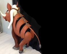Pumba costume for The Lion King. Custom-made for Halloween or theatre. Eco & animal friendly.