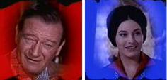 John Wayne and Ina Balin in''Comancheros''  1961